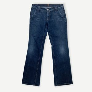 SEVEN FOR ALL MANKIND Sz 29 Trouser Jeans Button